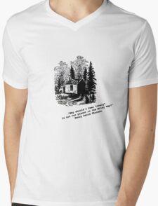 """Never Lonely"" - Thoreau at Walden Mens V-Neck T-Shirt"