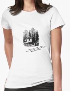 """""""Never Lonely"""" - Thoreau at Walden Womens Fitted T-Shirt"""