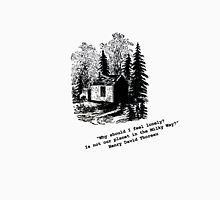 """Never Lonely"" - Thoreau at Walden Unisex T-Shirt"