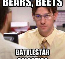 Bears Beets Battlestar Galactica  by cbryt3