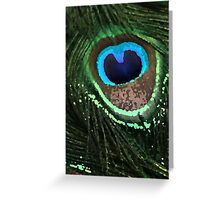 Graphic Peacock Feather Greeting Card