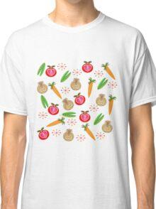Retro Fruit Vegetables Illustration Classic T-Shirt
