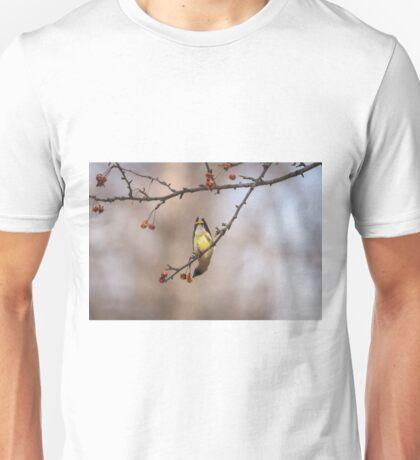 Cedar Waxwing Eating Berries 2014-1 Unisex T-Shirt