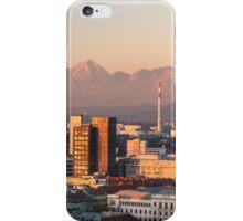 sunset on the city of Ljubljana iPhone Case/Skin