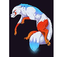 Icefury the Wolf of Fire and Ice Photographic Print