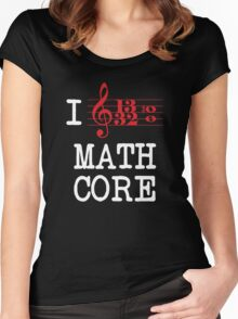 I Love Mathcore Women's Fitted Scoop T-Shirt