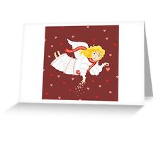 Girl Love Ange Cupid Сard Valentines Day Greeting Card