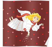 Girl Love Ange Cupid Сard Valentines Day Poster