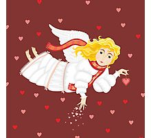 Girl Love Ange Cupid Сard Valentines Day Photographic Print