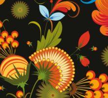 Seamless Background Flower Decorative Sticker