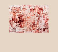 Heart And Its Blood Vessels. Leonardo Da Vinci,Anatomic Study, Red Unisex T-Shirt