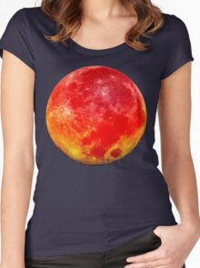 Blood Moon Bright Women's Fitted Scoop T-Shirt