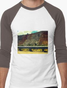 Montana landscape Men's Baseball ¾ T-Shirt