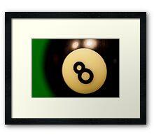 8 ball - eight ball Framed Print