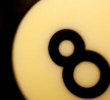 8 ball - eight ball Sticker