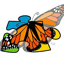 Autism Awareness Butterfly by Emma Apple