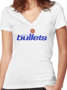 DEFUNCT -CAPITAL BULLETS Women's Fitted V-Neck T-Shirt
