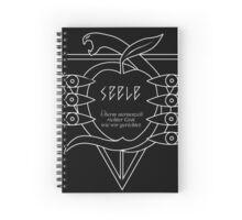 SEELE Rebuild of Evangelion Logo Black Graphic Spiral Notebook