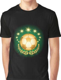 Golden Soccer Ball Graphic T-Shirt