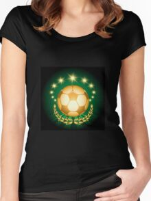 Golden Soccer Ball Women's Fitted Scoop T-Shirt