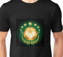 Golden Soccer Ball Unisex T-Shirt