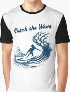 Surfer riding big wave  Graphic T-Shirt