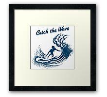 Surfer riding big wave  Framed Print