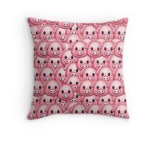 Pig Emoji Pattern Throw Pillow