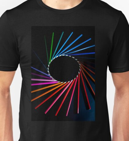 Colour Abstract Pencils Unisex T-Shirt
