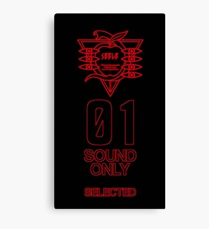 SEELE Red 01 Keel Lorenz Logo Evangelion Graphic Canvas Print