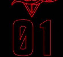 SEELE Red 01 Keel Lorenz Logo Evangelion Graphic Sticker