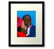 African Couple Framed Print