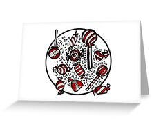 Wrapped Candies in Red Greeting Card