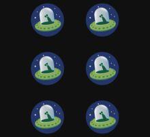Alien spacecraft stickers Kids Tee