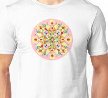 Pastel Carousel Pink Circle Unisex T-Shirt