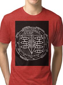 Seele Black Fancy Mandala Evangelion Logo Graphic Tri-blend T-Shirt