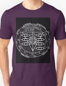 Seele Black Fancy Mandala Evangelion Logo Graphic Unisex T-Shirt