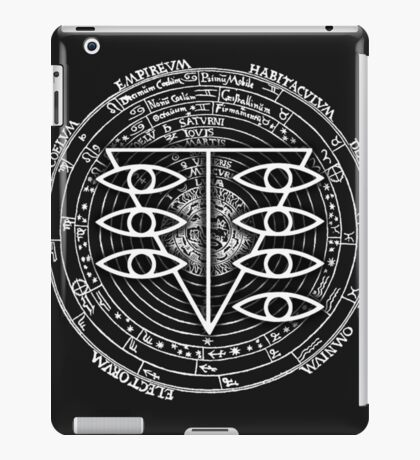 Seele Black Fancy Mandala Evangelion Logo Graphic iPad Case/Skin