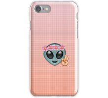 Alien Emoji in Flower Crown iPhone Case/Skin