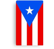 Puerto Rico Flag Banner Canvas Print