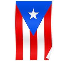 Puerto Rico Flag Banner Poster