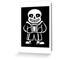 Sans - Undertale Greeting Card