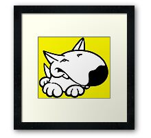 English Bull Terrier Cartoon 3 Framed Print