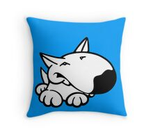 English Bull Terrier Cartoon 3 Throw Pillow