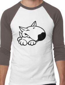English Bull Terrier Cartoon 3 Men's Baseball ¾ T-Shirt