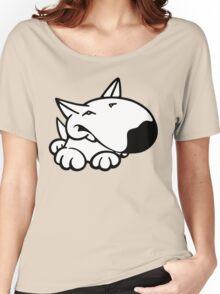 English Bull Terrier Cartoon 3 Women's Relaxed Fit T-Shirt