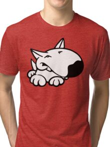 English Bull Terrier Cartoon 3 Tri-blend T-Shirt
