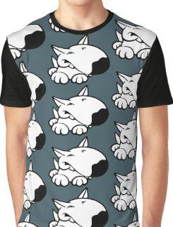 English Bull Terrier Cartoon 3 Graphic T-Shirt