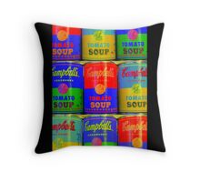 Homage to Andy Warhol  Throw Pillow