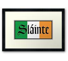 Slainte Irish Flag Framed Print